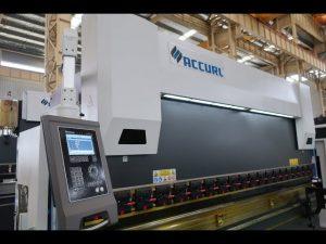 Máquina de freo de prensa de 4 eixes CNC de 175 toneladas x 4000 mm Corona motorizada CNC