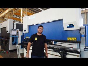 6-Axis CNC Press Brake Euro Pro B32135 con sistema de sujeción Wila a través de clientes australianos