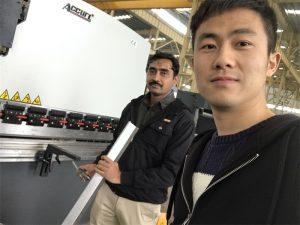 Proba de Cliente de Alxeria Prensa de máquina de freo na nosa fábrica