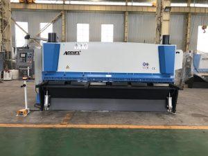 Máquina de corte de guillotina hidráulica de 3200 mm x 8 mm con soporte de material neumático