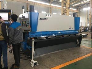 Máquina de guillotina hidráulica MS8-8x3200 con sistema de soporte de chapa