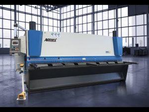 Máquina de corte de guillotina hidráulica MS8 8x4000mm con pantalla táctil ELGO P40T CNC
