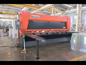 Rastrillo variable principal con cizallas hidráulicas CNC de MS8-10x4000mm