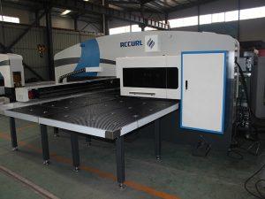 Máquina de perforación CNC de fabricación de MAX-SF-30T con prensa de perforación hidráulica con ferramentas Amada. Perforación de torreta. Control de Fanuc.