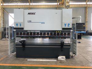 We67k CNC freo de prensa da folla de ferro hidráulico